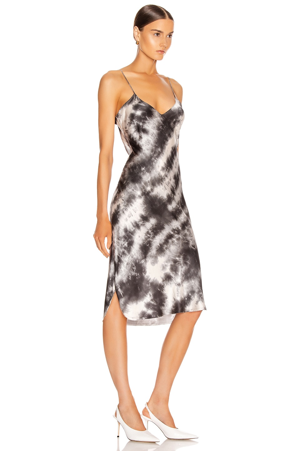 Image 2 of NILI LOTAN Short Cami Dress in Gunmetal Tie Dye