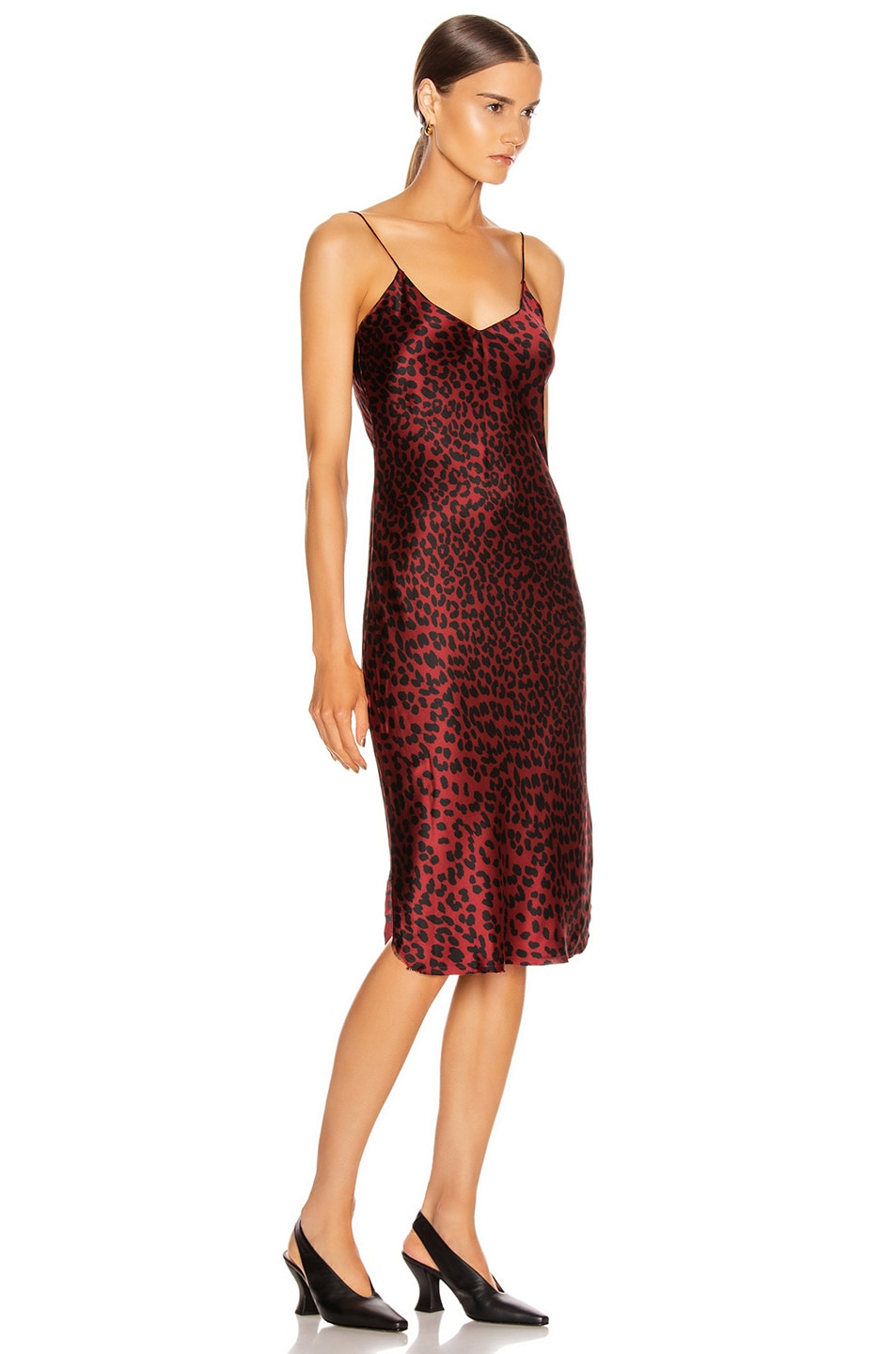 Image 2 of NILI LOTAN Short Cami Dress in Ruby Leopard Print