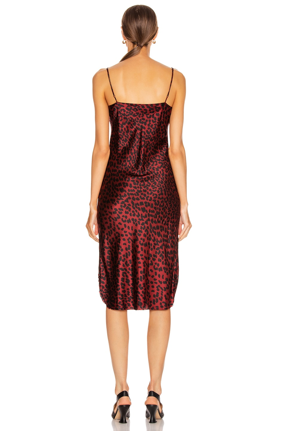 Image 3 of NILI LOTAN Short Cami Dress in Ruby Leopard Print