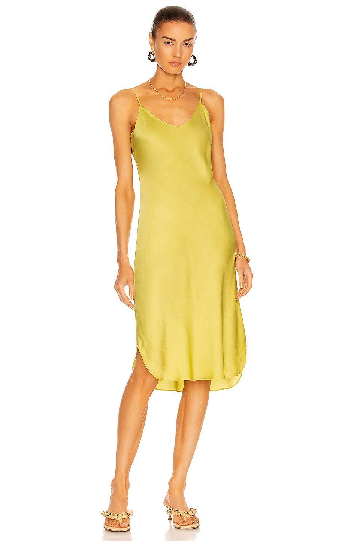 Image 1 of NILI LOTAN Giuliana Short Cami Dress in Kiwi