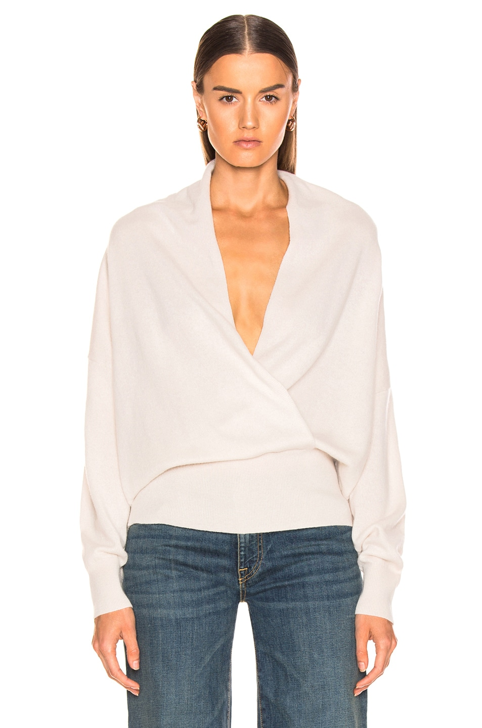 Image 2 of NILI LOTAN Lakota Sweater in Ivory