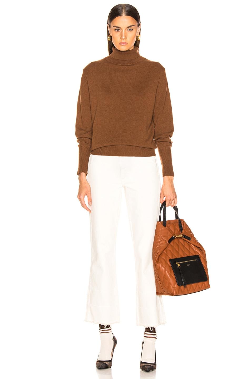 Image 4 of NILI LOTAN Ralphie Sweater in Cognac