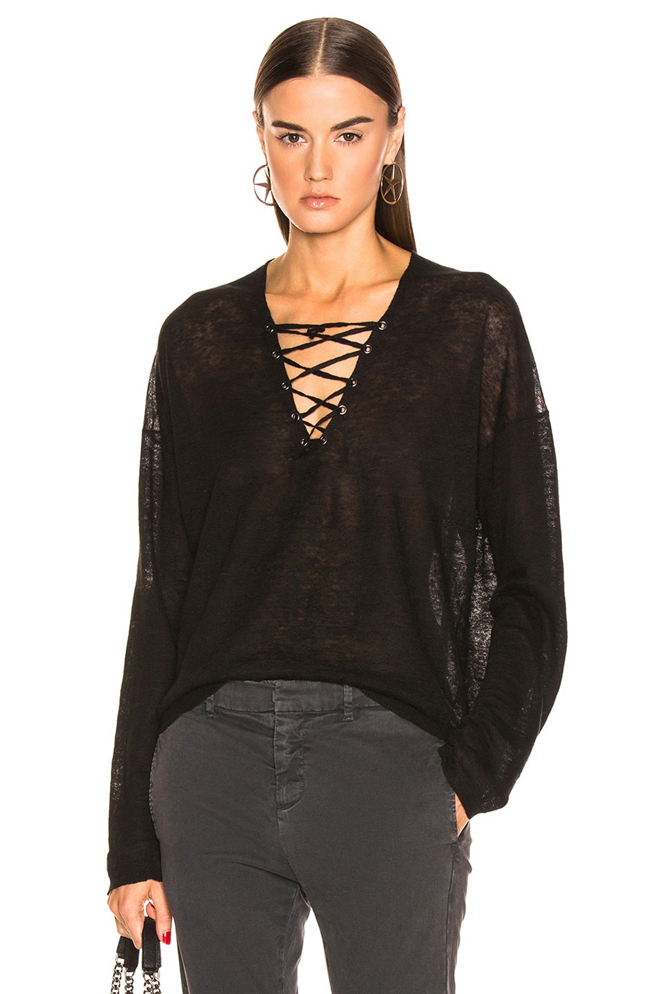 Image 1 of NILI LOTAN Arabella Sweater in Black