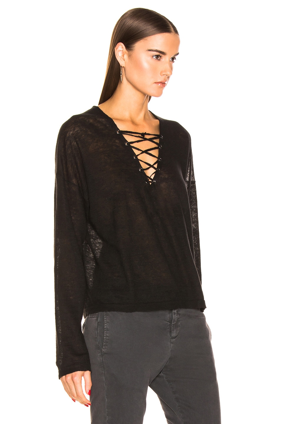 Image 2 of NILI LOTAN Arabella Sweater in Black