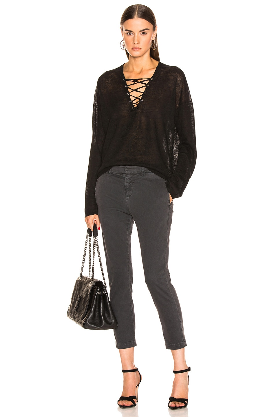 Image 4 of NILI LOTAN Arabella Sweater in Black