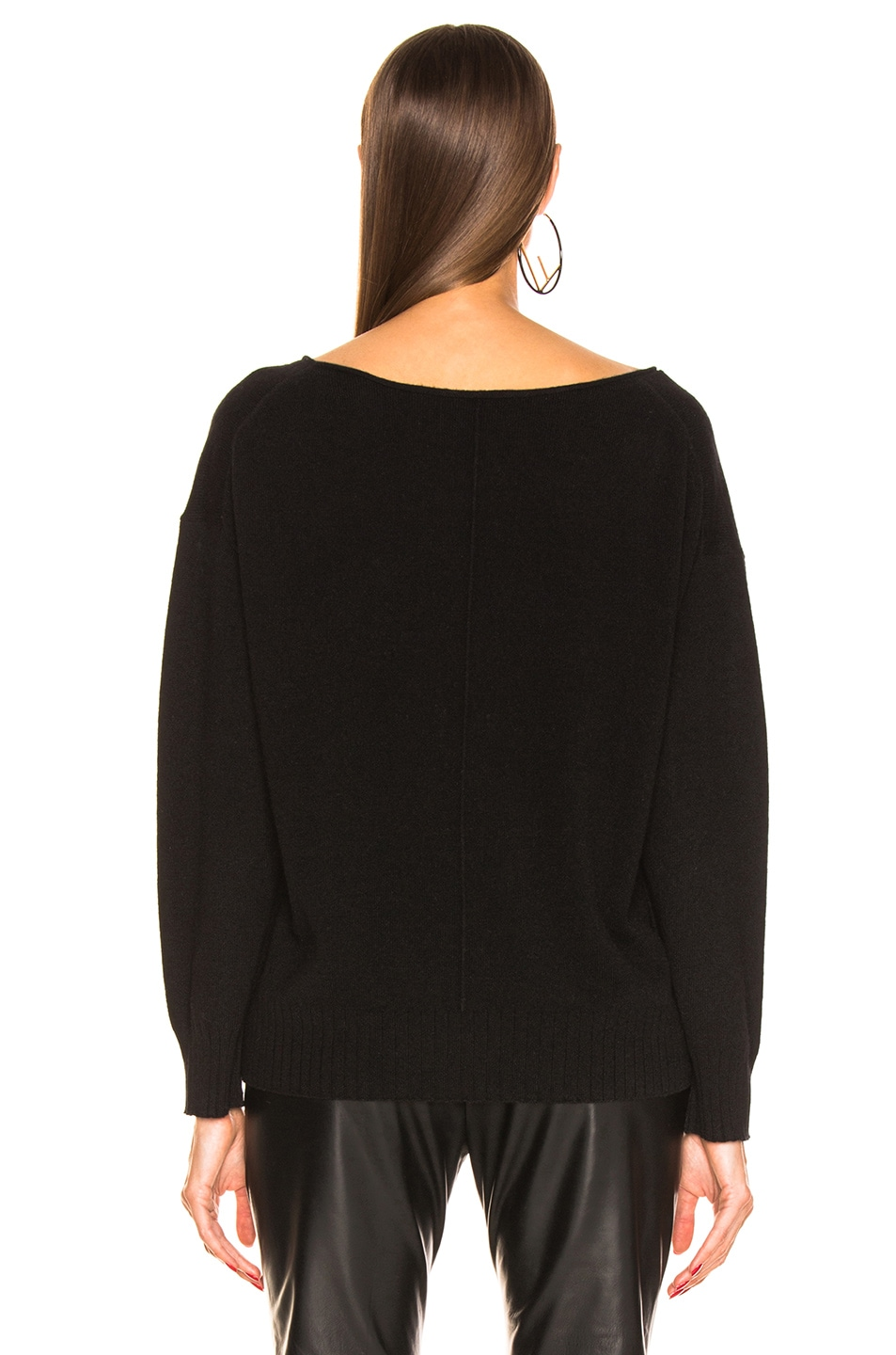 Image 4 of NILI LOTAN Jolene Cashmere Sweater in Black