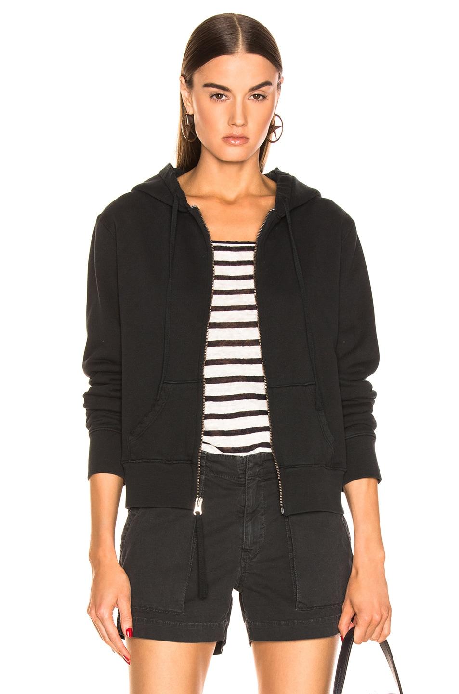 Image 1 of NILI LOTAN Callie Zip Up Hoodie in Washed Black