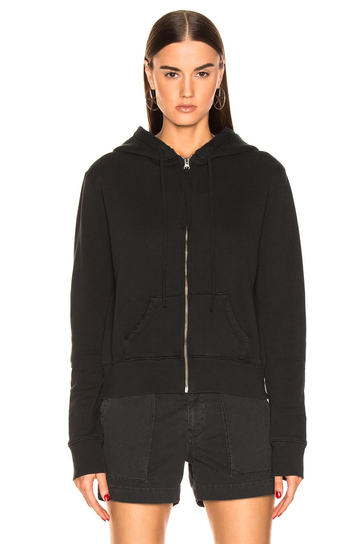 Image 2 of NILI LOTAN Callie Zip Up Hoodie in Washed Black