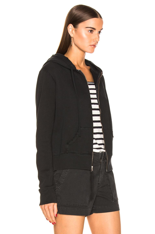 Image 3 of NILI LOTAN Callie Zip Up Hoodie in Washed Black