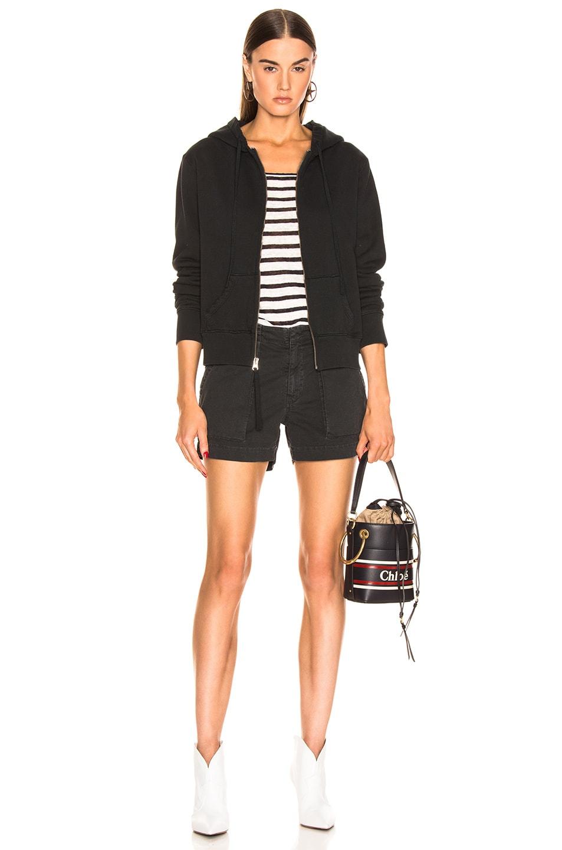 Image 5 of NILI LOTAN Callie Zip Up Hoodie in Washed Black