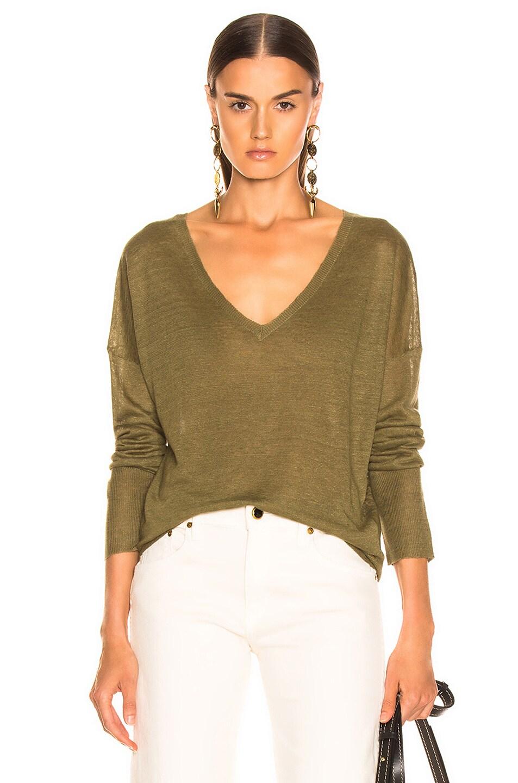 Image 1 of NILI LOTAN Nina Sweater in Olive