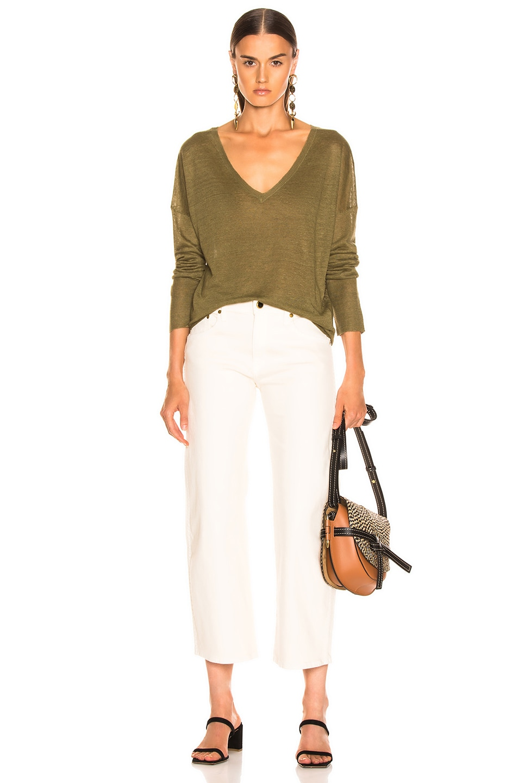 Image 4 of NILI LOTAN Nina Sweater in Olive