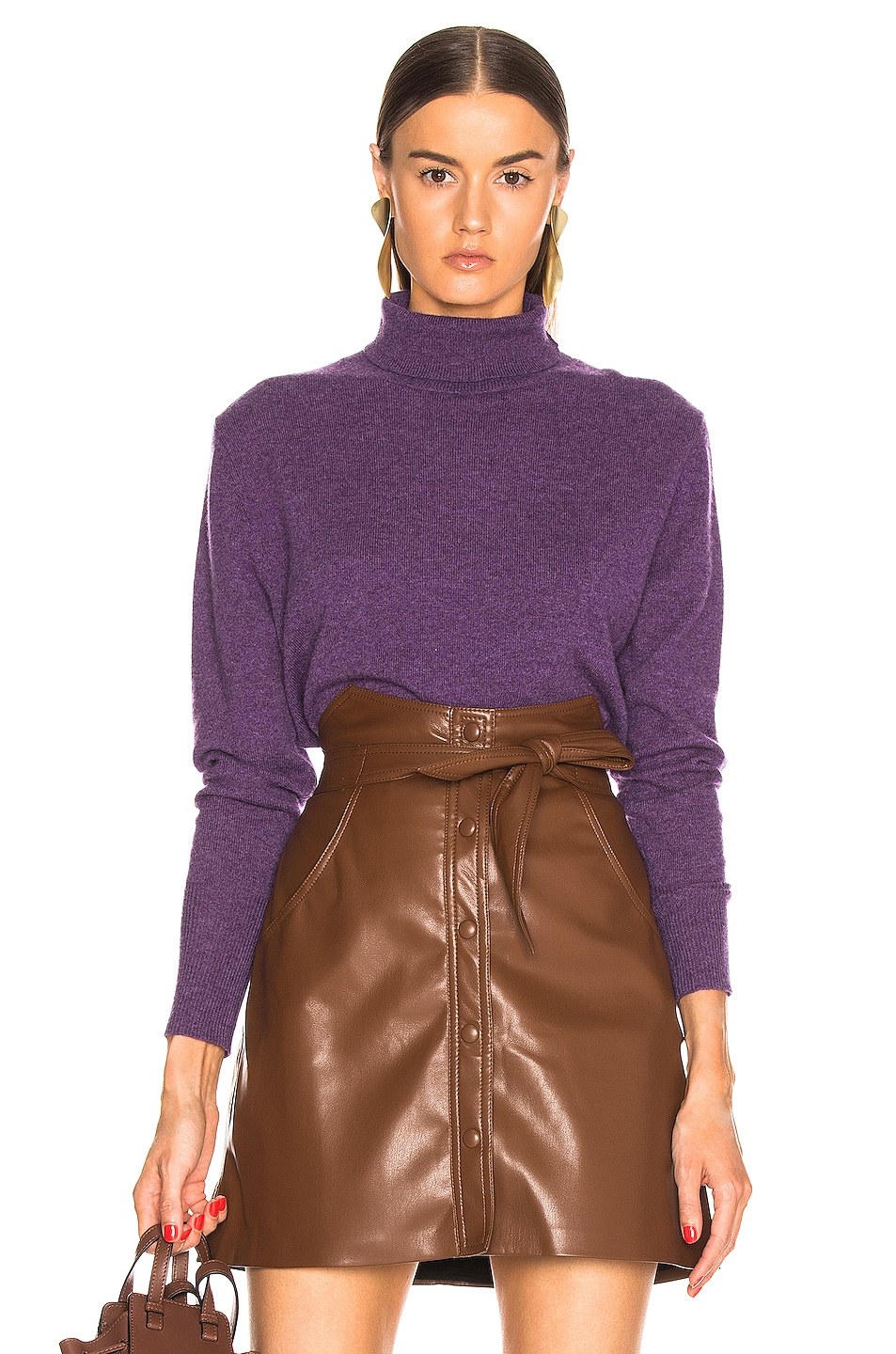 Image 1 of NILI LOTAN Ralphie Cashmere Sweater in Amethyst