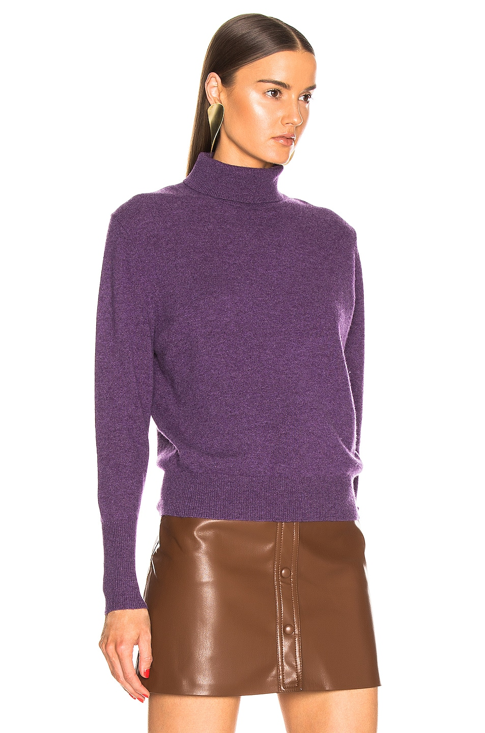 Image 2 of NILI LOTAN Ralphie Cashmere Sweater in Amethyst