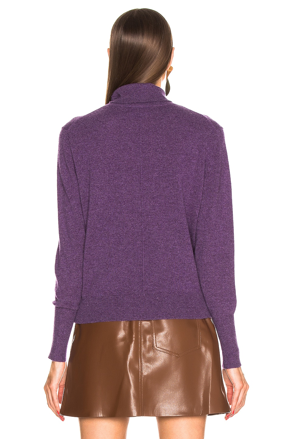 Image 3 of NILI LOTAN Ralphie Cashmere Sweater in Amethyst