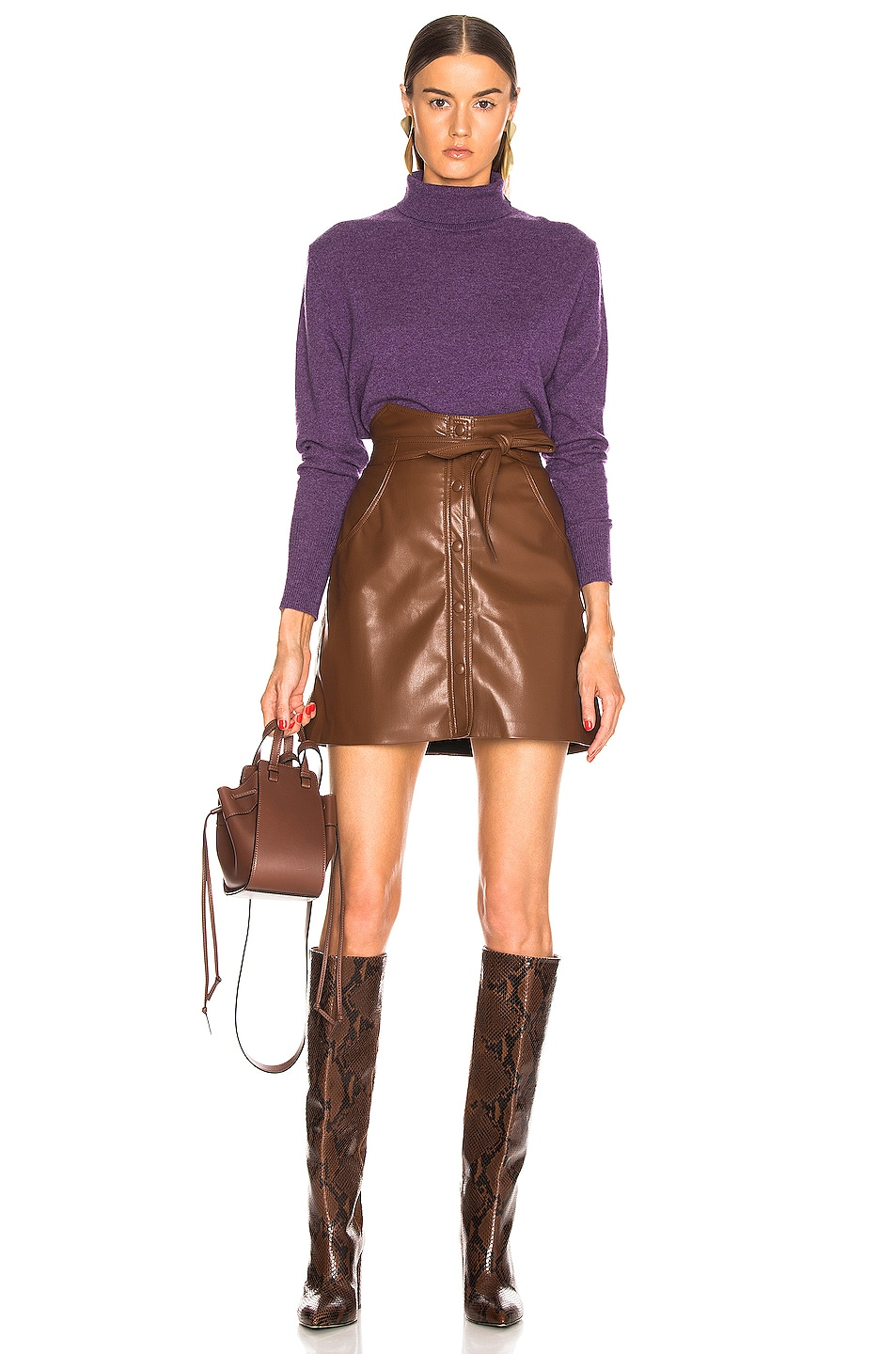 Image 4 of NILI LOTAN Ralphie Cashmere Sweater in Amethyst