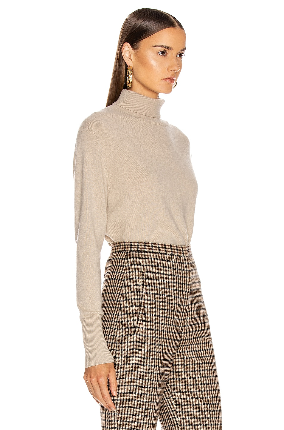 Image 2 of NILI LOTAN Ralphie Cashmere Sweater in Stone