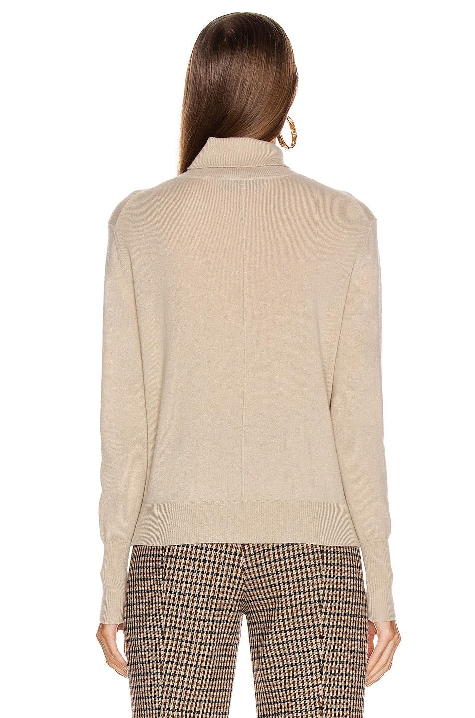 Image 3 of NILI LOTAN Ralphie Cashmere Sweater in Stone