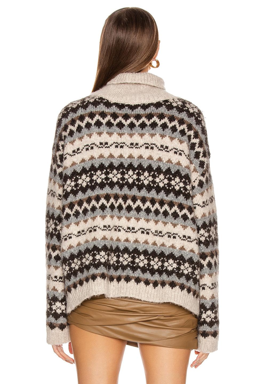 Image 3 of NILI LOTAN Catalina Sweater in Oatmeal Fairisle