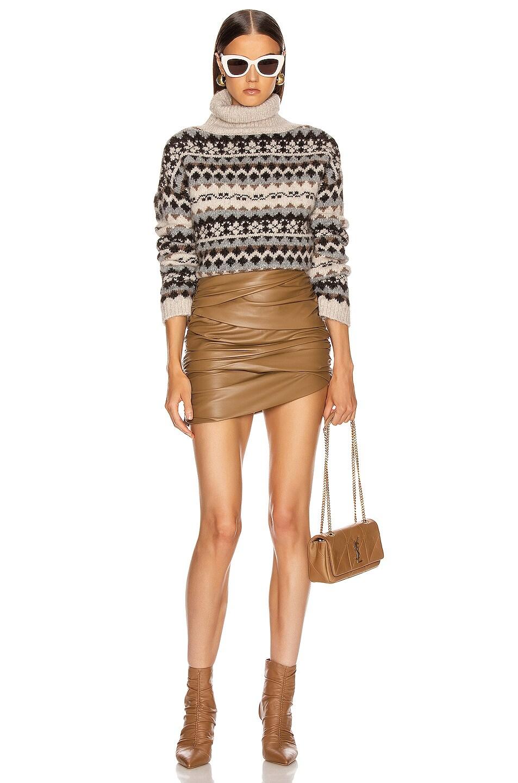 Image 4 of NILI LOTAN Catalina Sweater in Oatmeal Fairisle