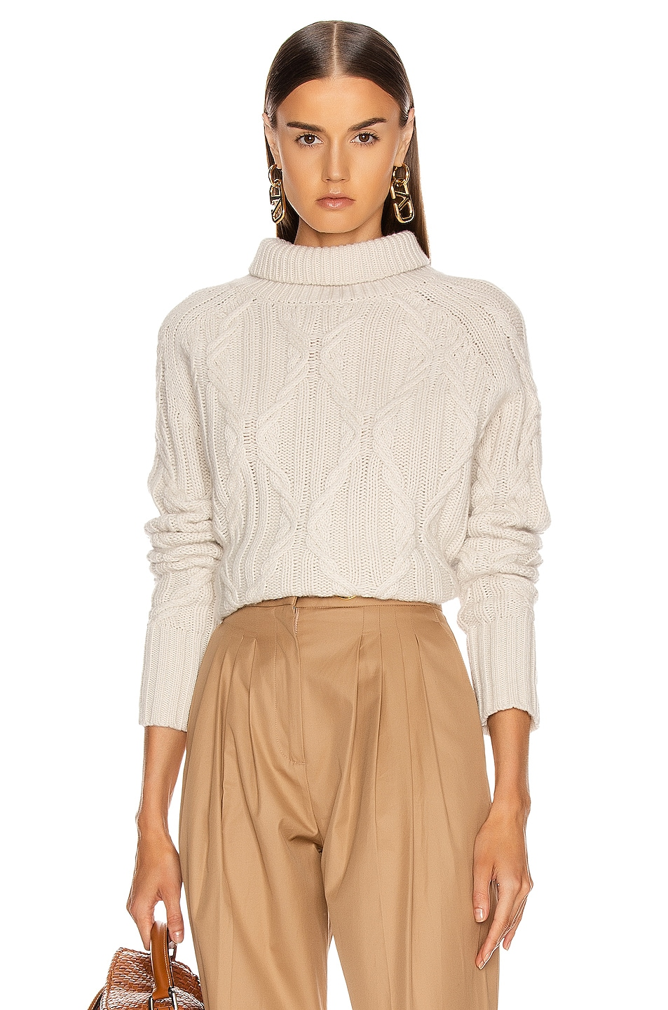 Image 1 of NILI LOTAN Merya Sweater in Ivory