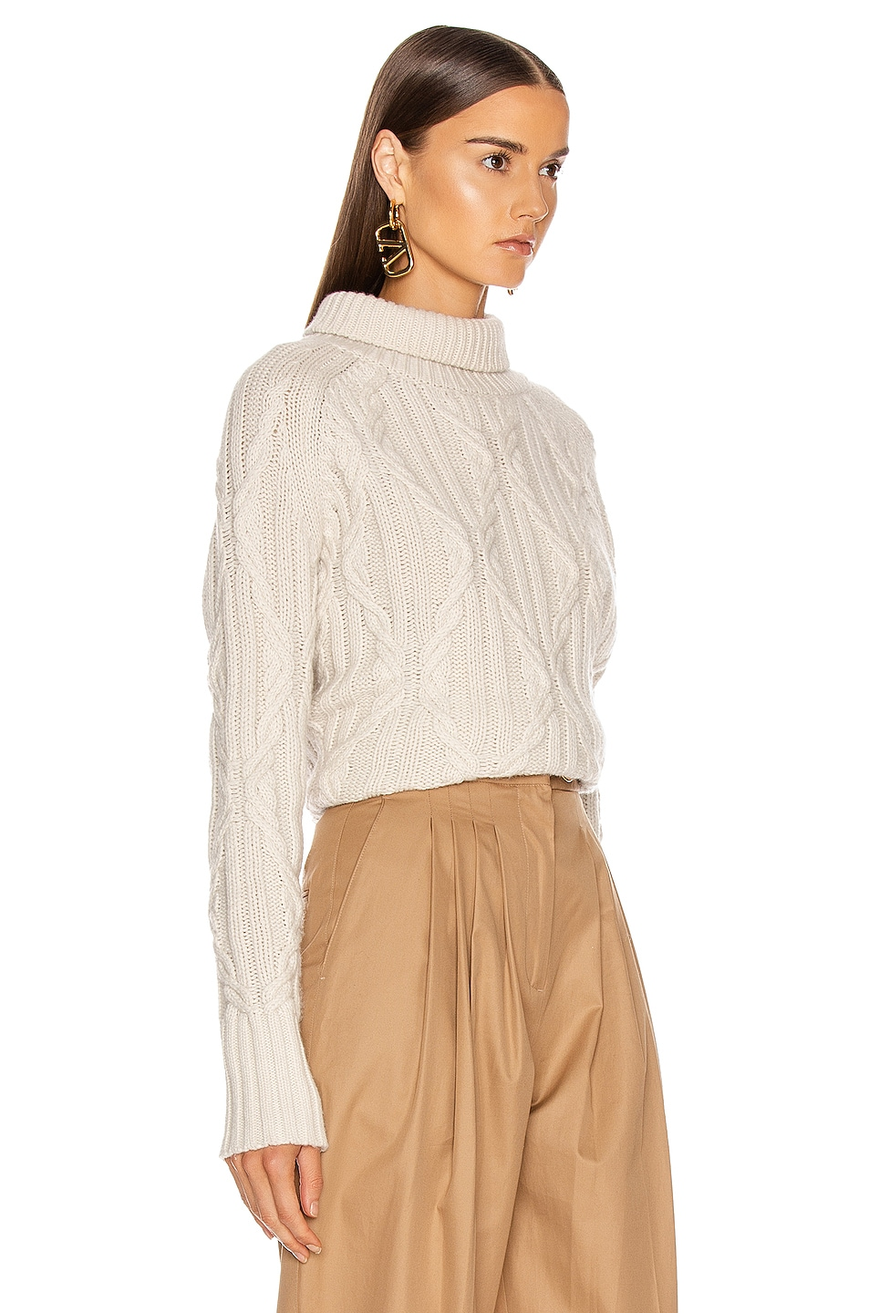 Image 2 of NILI LOTAN Merya Sweater in Ivory