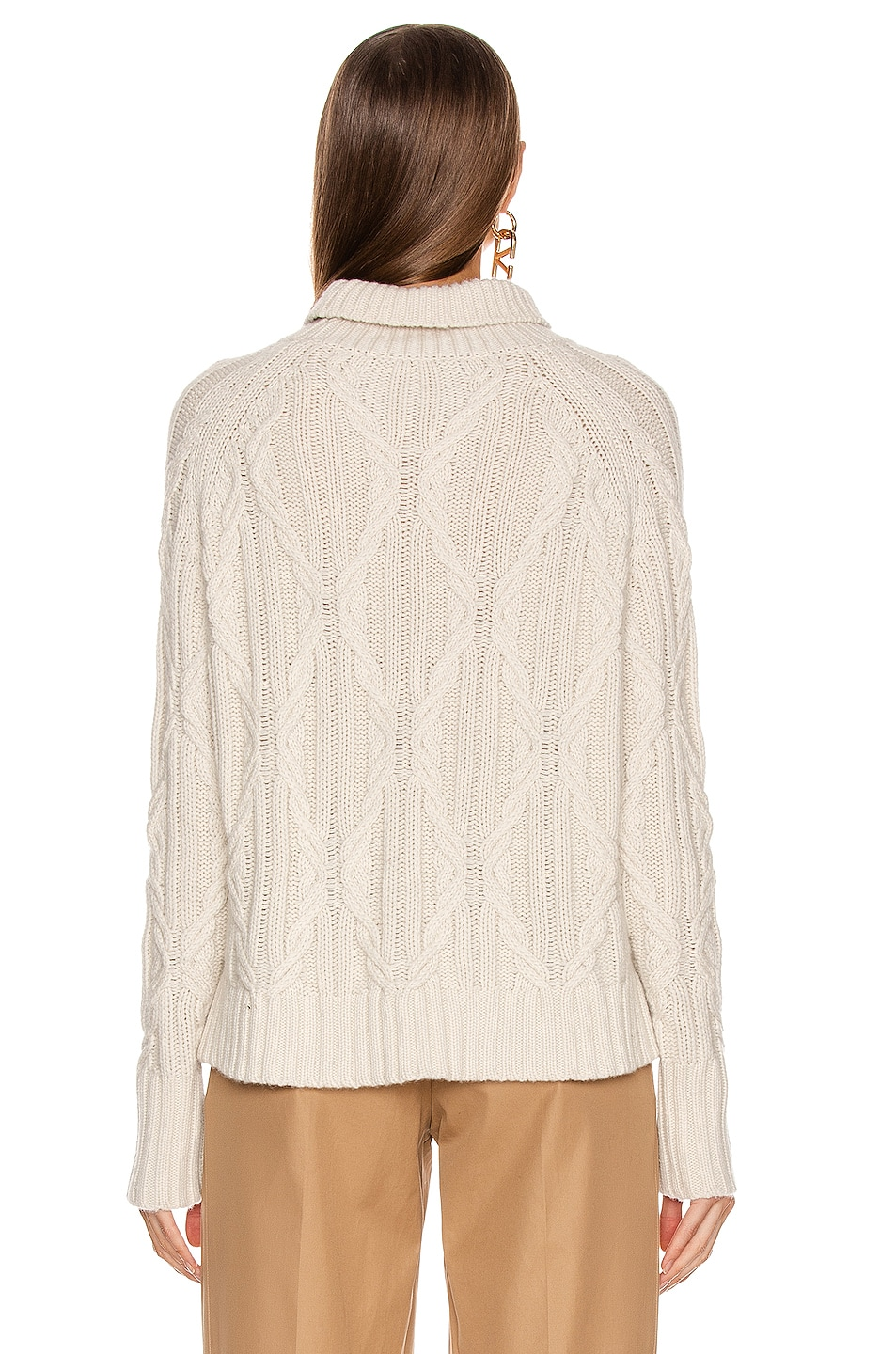Image 3 of NILI LOTAN Merya Sweater in Ivory