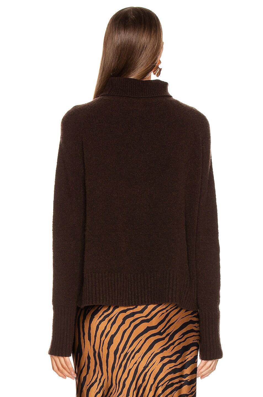 Image 3 of NILI LOTAN Mariah Sweater in Chocolate