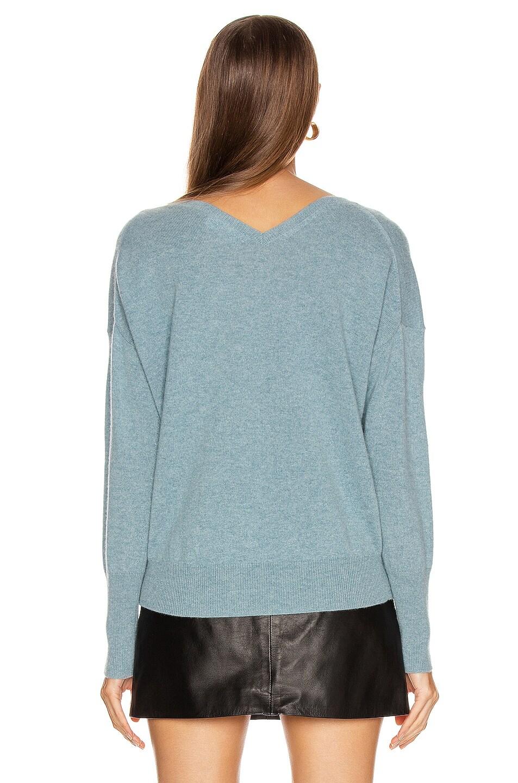 Image 3 of NILI LOTAN Kylan Cashmere Sweater in Vintage Blue