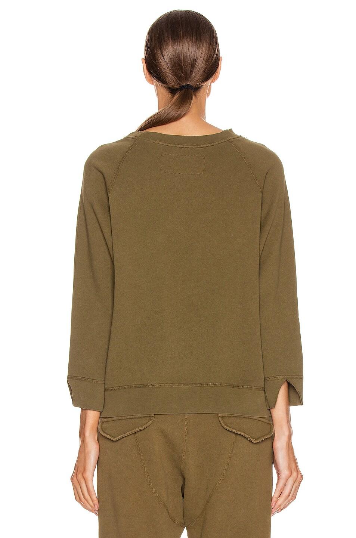 Image 3 of NILI LOTAN Luka Scoop Neck Sweatshirt in Army Green