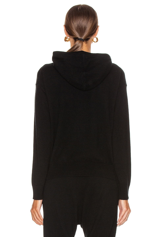 Image 4 of NILI LOTAN Emmaline Cashmere Zip Front Hoodie in Black