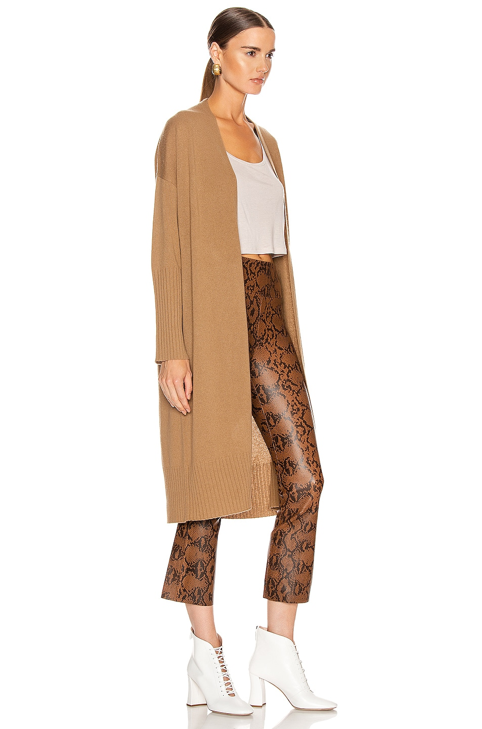 Image 2 of NILI LOTAN Makenna Cashmere Cardigan in Camel