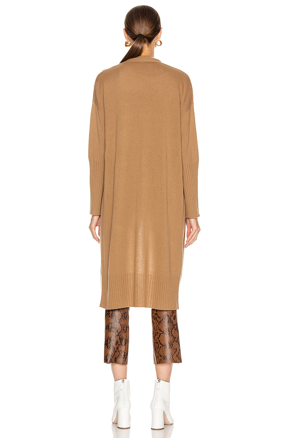 Image 3 of NILI LOTAN Makenna Cashmere Cardigan in Camel