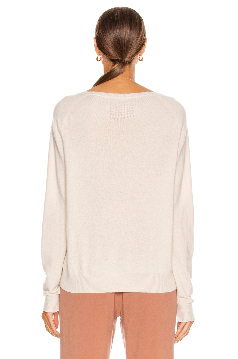 Image 3 of NILI LOTAN Ashbury Cashmere Sweater in Ivory