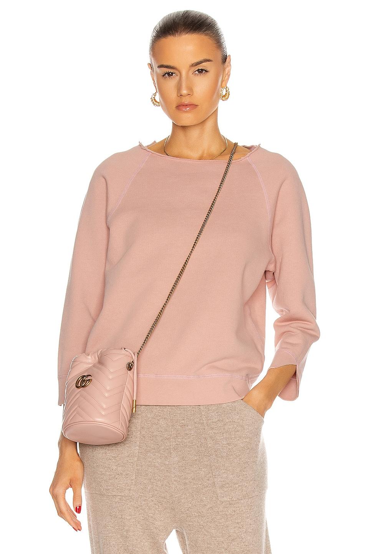 Image 1 of NILI LOTAN for FWRD Luka Scoop Neck Sweatshirt in Dusty Pink