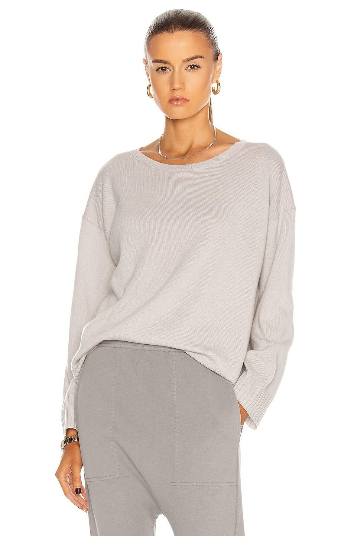 Image 1 of NILI LOTAN Cashmere Boyfriend Sweater in Smokey Grey