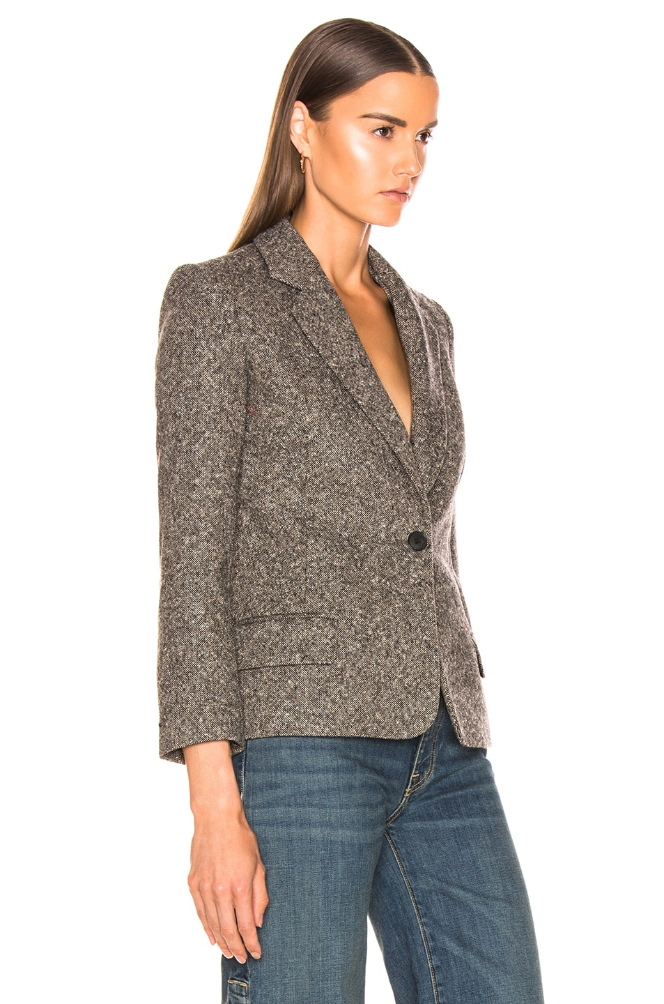 NILI LOTAN Humphrey Jacket Brown Melange 70%OFF