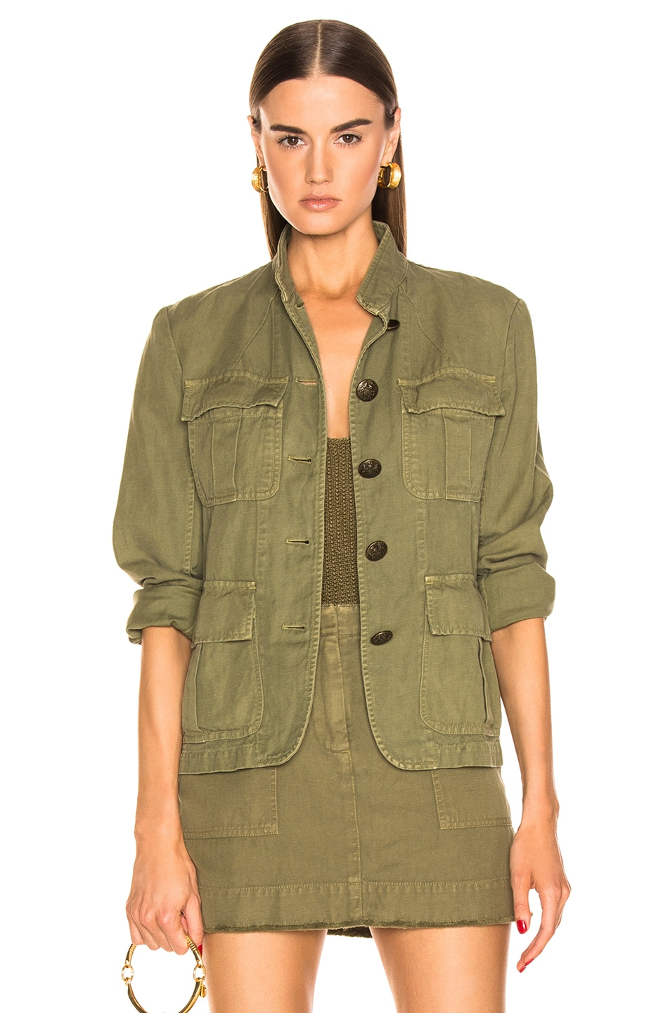 Image 1 of NILI LOTAN Cambre Jacket in Uniform Green