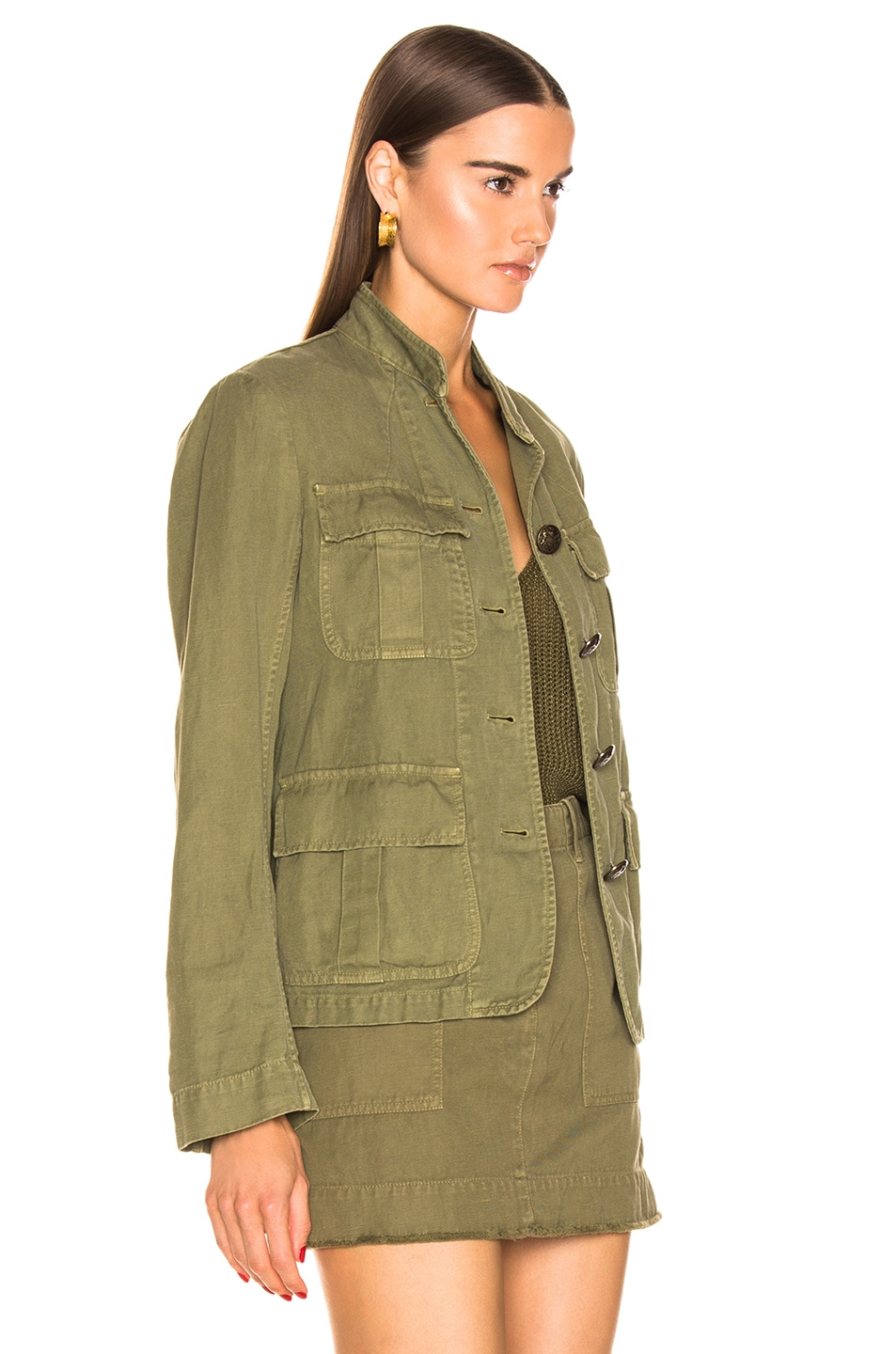 Image 2 of NILI LOTAN Cambre Jacket in Uniform Green