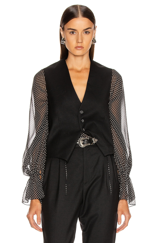 Image 1 of NILI LOTAN Angelina Vest in Black