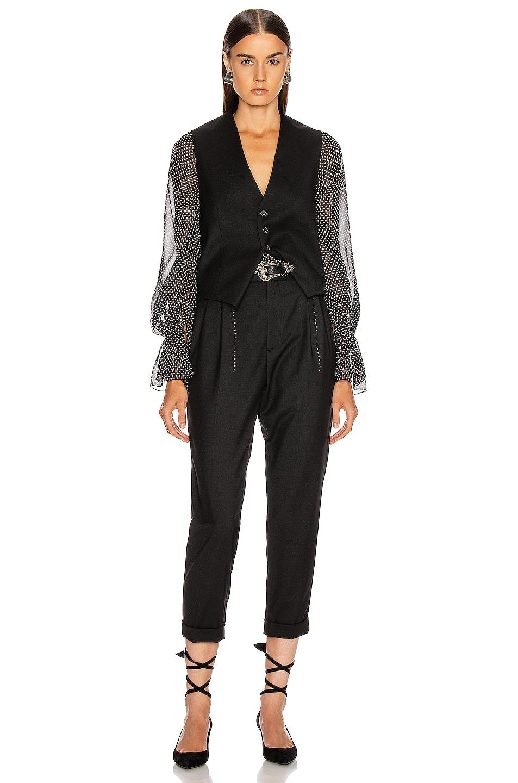 Image 4 of NILI LOTAN Angelina Vest in Black