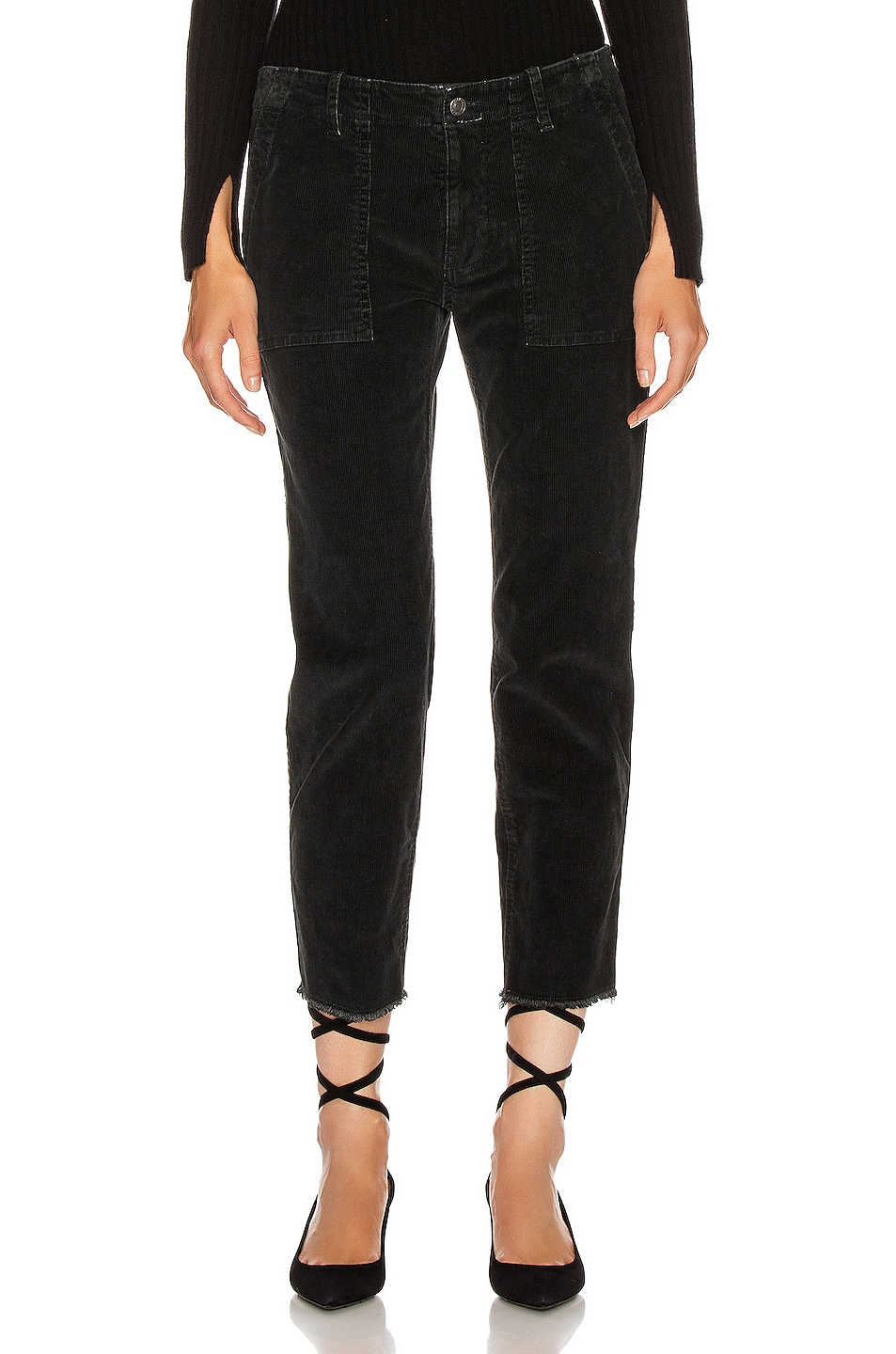 Image 1 of NILI LOTAN Jenna Pant with Tape in Jet Black, Black & Gold