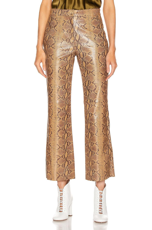 Image 1 of NILI LOTAN Vianna Leather Pant in Nutmeg Python Print