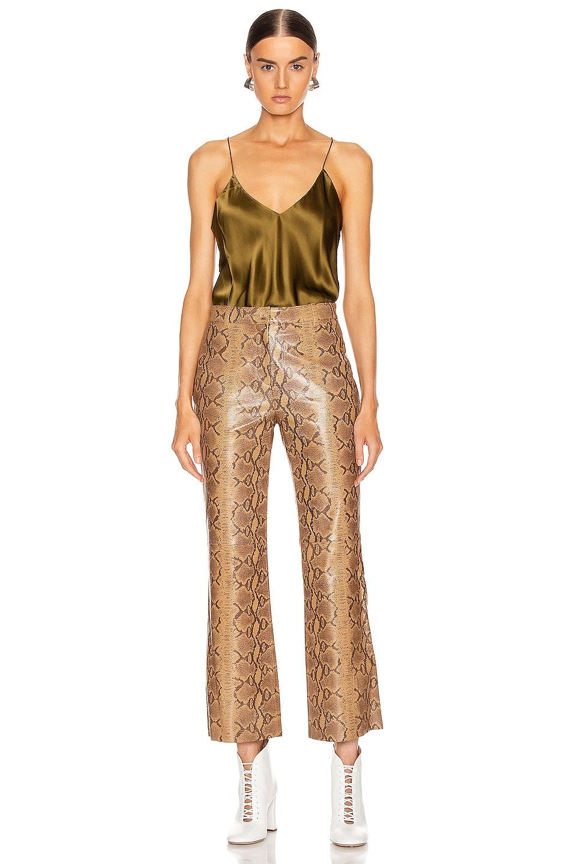 Image 4 of NILI LOTAN Vianna Leather Pant in Nutmeg Python Print