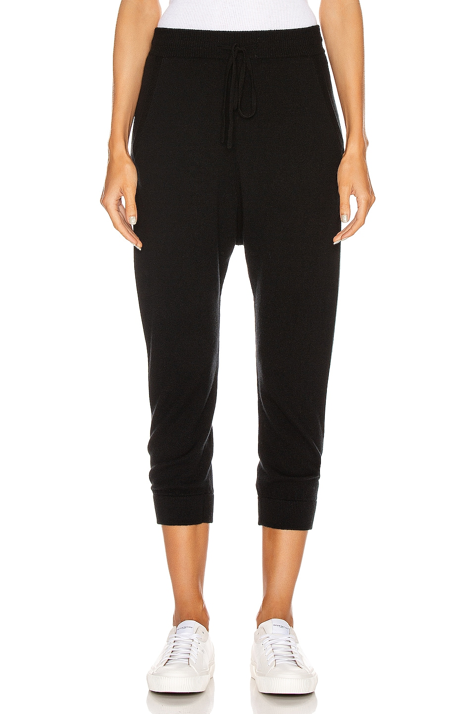 Image 1 of NILI LOTAN Paris Cashmere Sweatpant in Black