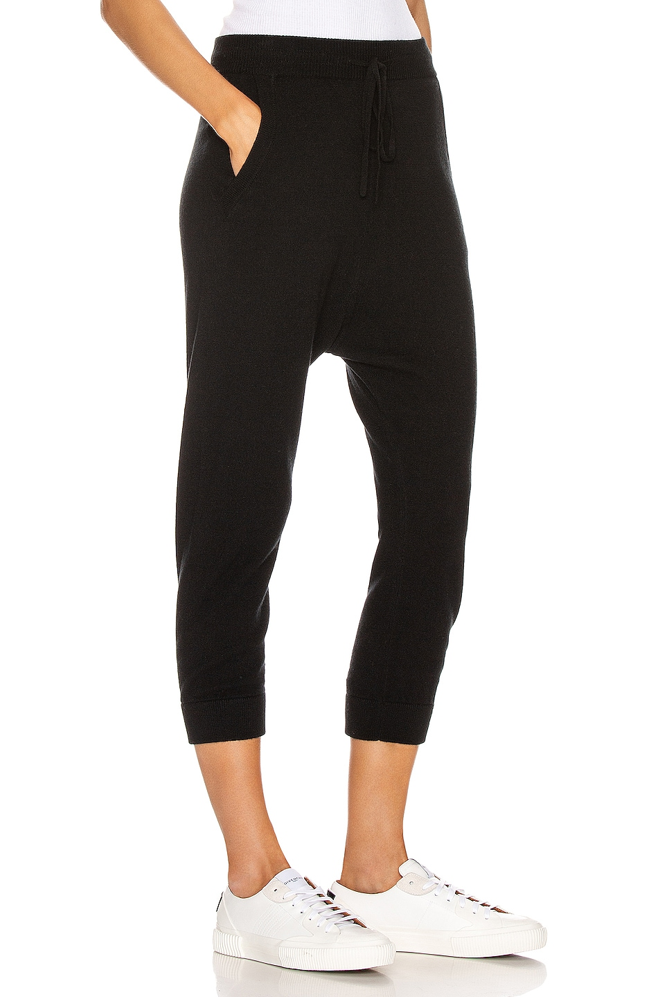 Image 2 of NILI LOTAN Paris Cashmere Sweatpant in Black