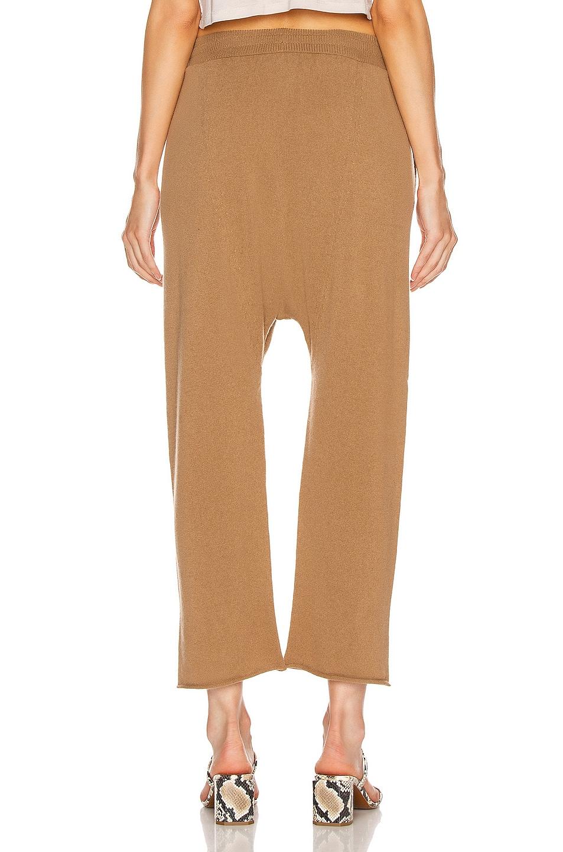 Image 3 of NILI LOTAN Luna Cashmere Sweatpant in Camel