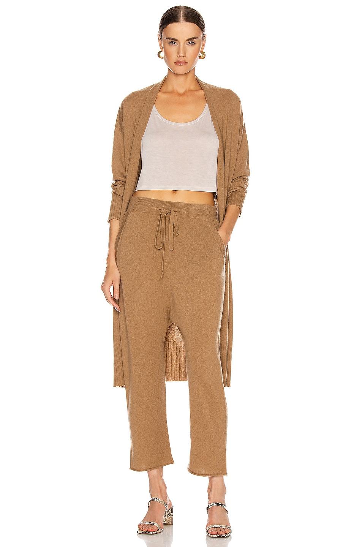 Image 4 of NILI LOTAN Luna Cashmere Sweatpant in Camel