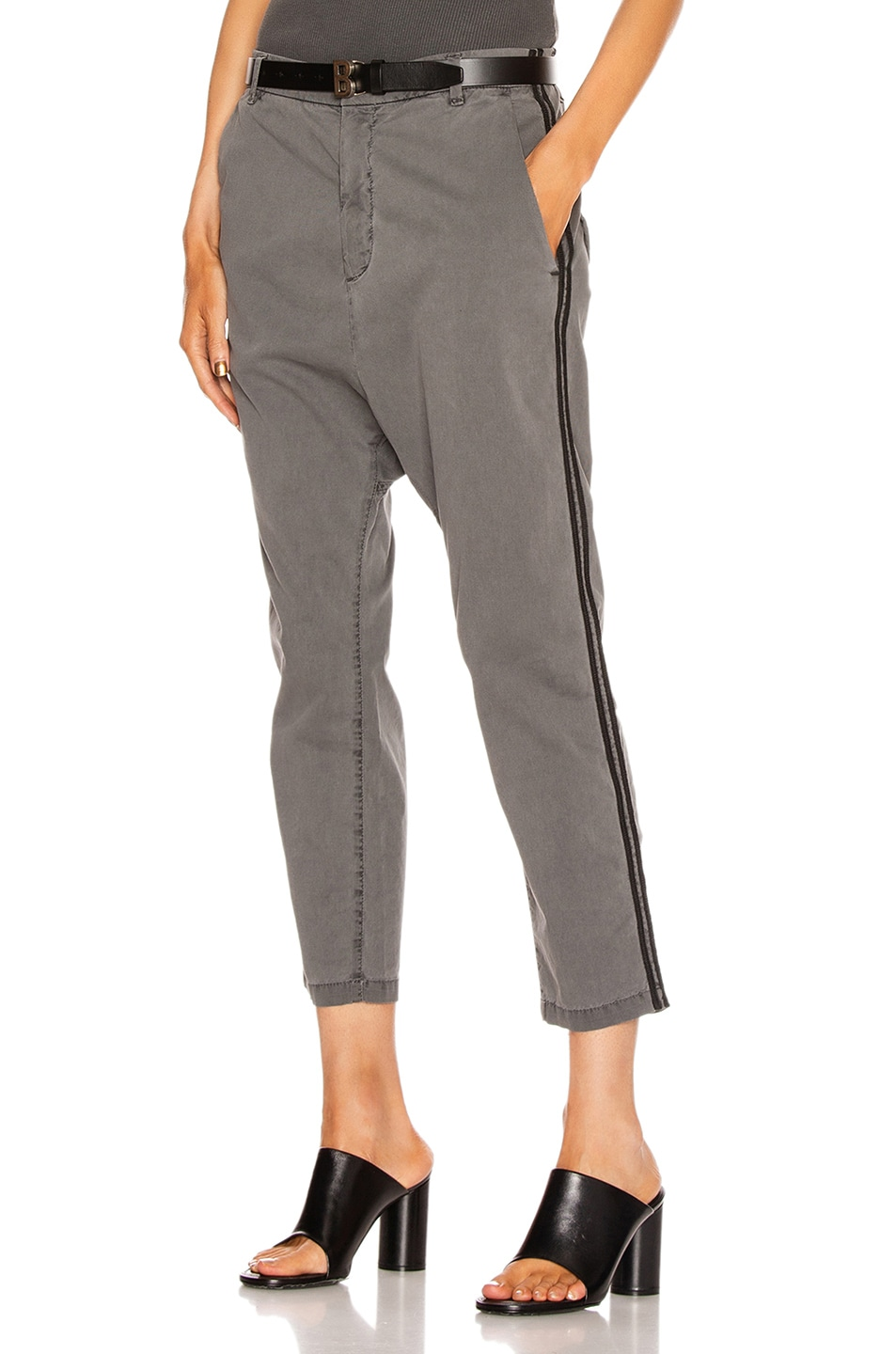 Image 1 of NILI LOTAN Paris Pant with Double Tape in Charcoal & Black