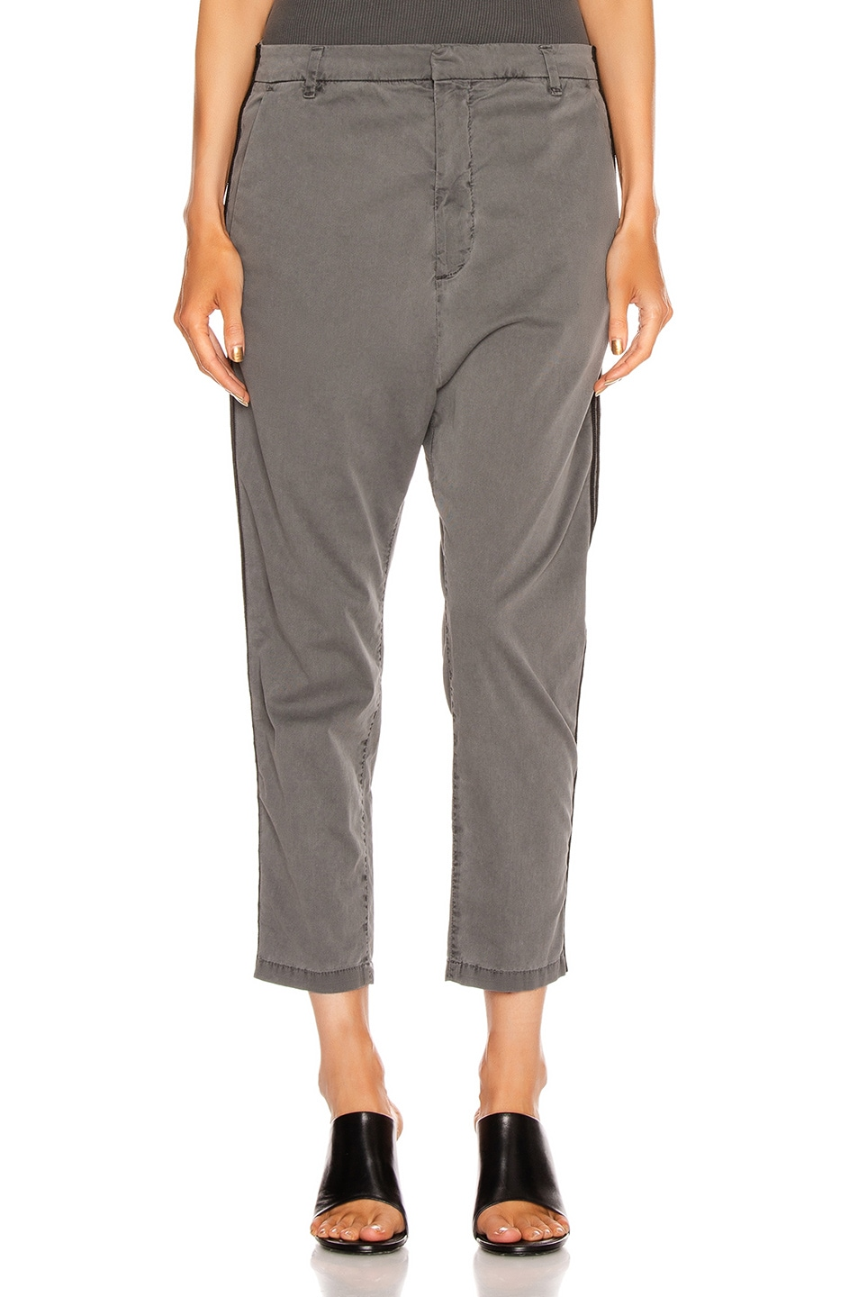 Image 2 of NILI LOTAN Paris Pant with Double Tape in Charcoal & Black